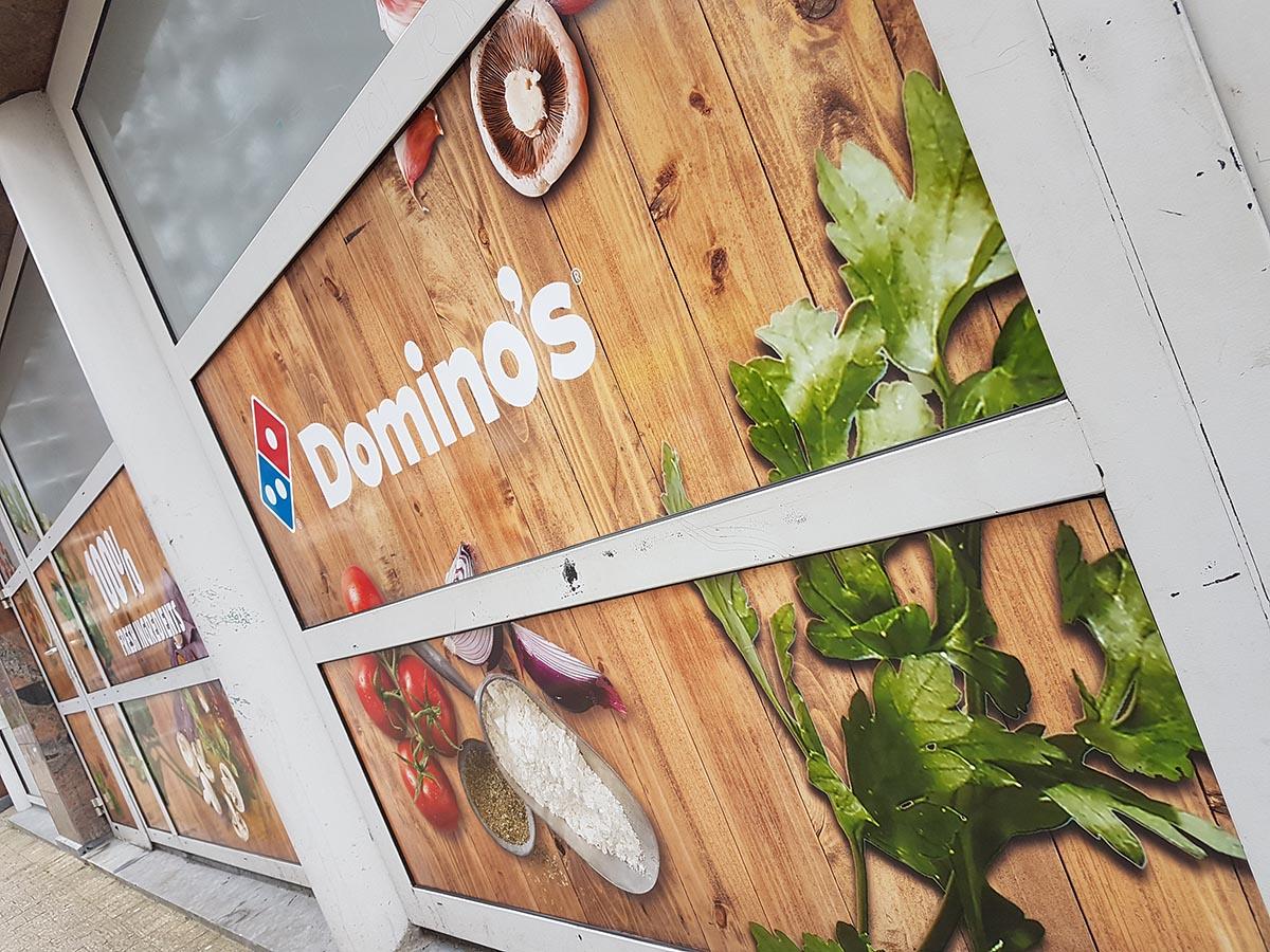 Raambestickering bij Dominos Pizza Maarssen - Utrecht