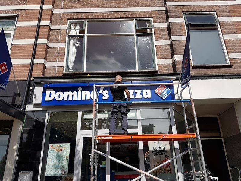 Gevelreclame Domino's Pizza Amersfoort