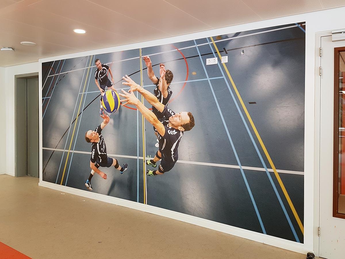 Fotowanden bij sportcomplex Ede